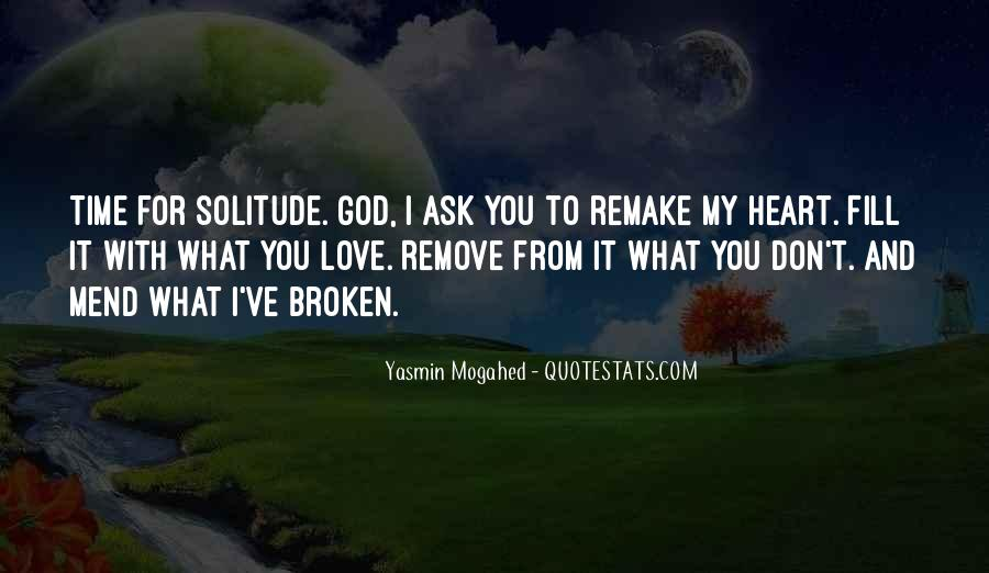 Quotes About Solitude With God #1514959