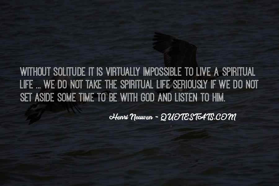 Quotes About Solitude With God #1666575