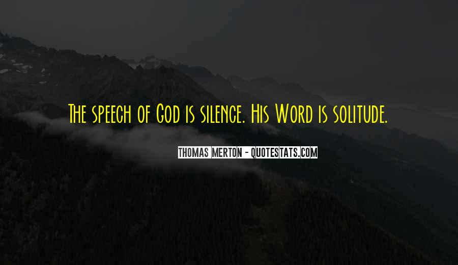Quotes About Solitude With God #1788744