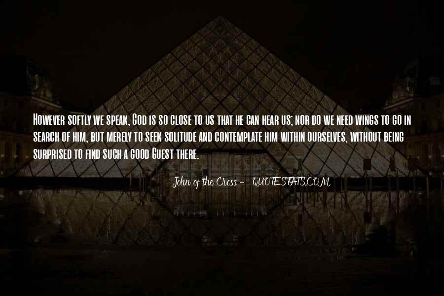 Quotes About Solitude With God #269391