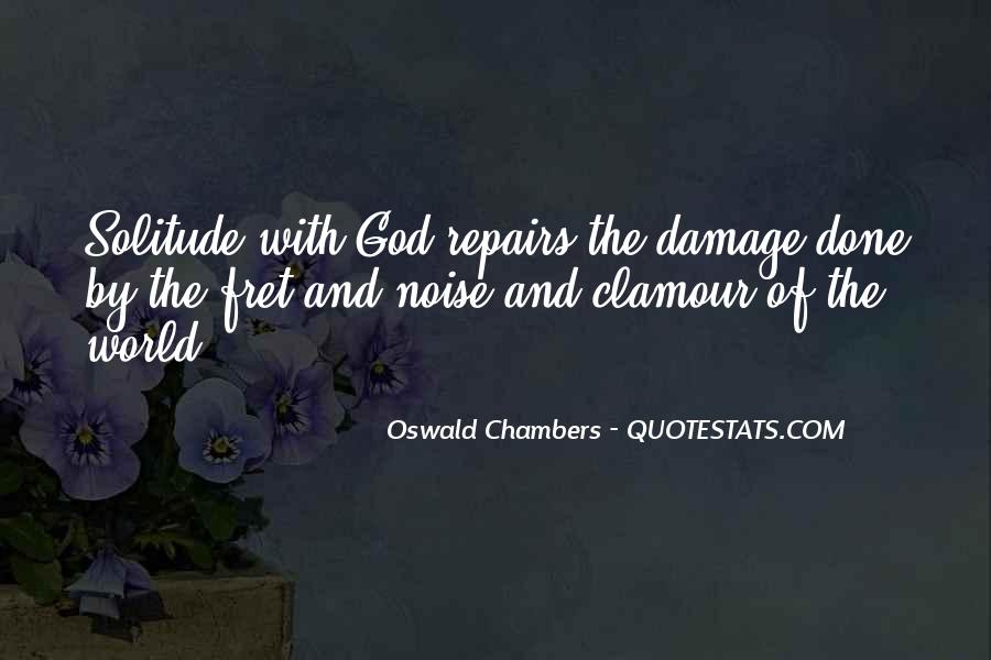 Quotes About Solitude With God #285277