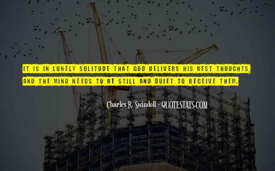 Quotes About Solitude With God #593250