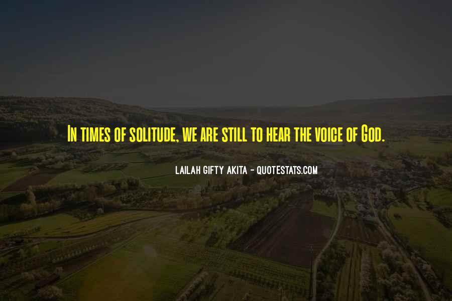 Quotes About Solitude With God #862082