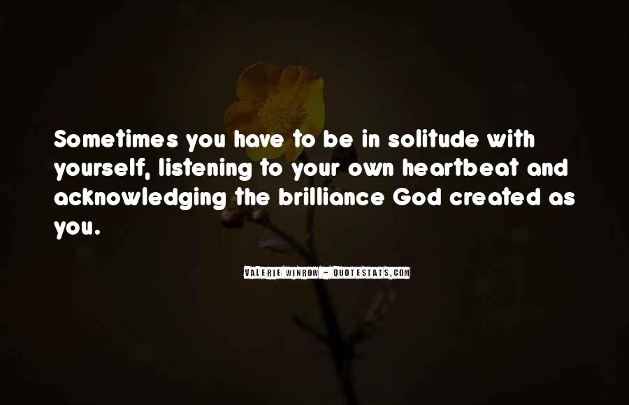 Quotes About Solitude With God #93957