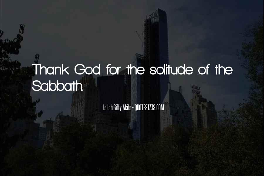 Quotes About Solitude With God #97291