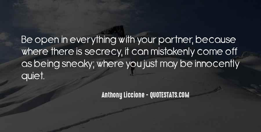 Quotes About Being Sneaky #1877138