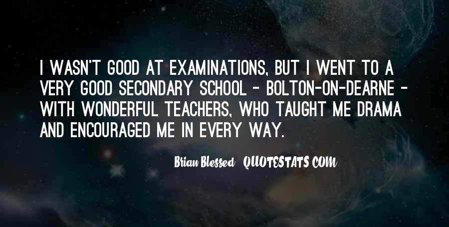 Quotes About Examinations In School #1066451