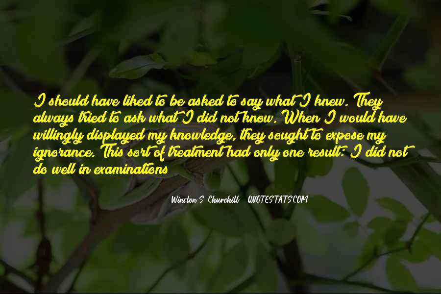Quotes About Examinations In School #1175424