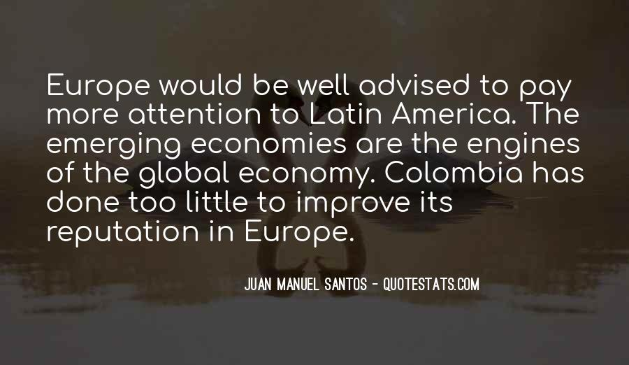 Quotes About Emerging Economies #1218015