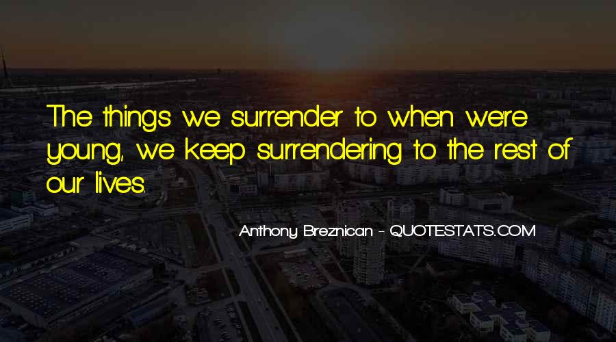 Quotes About Surrender #118218