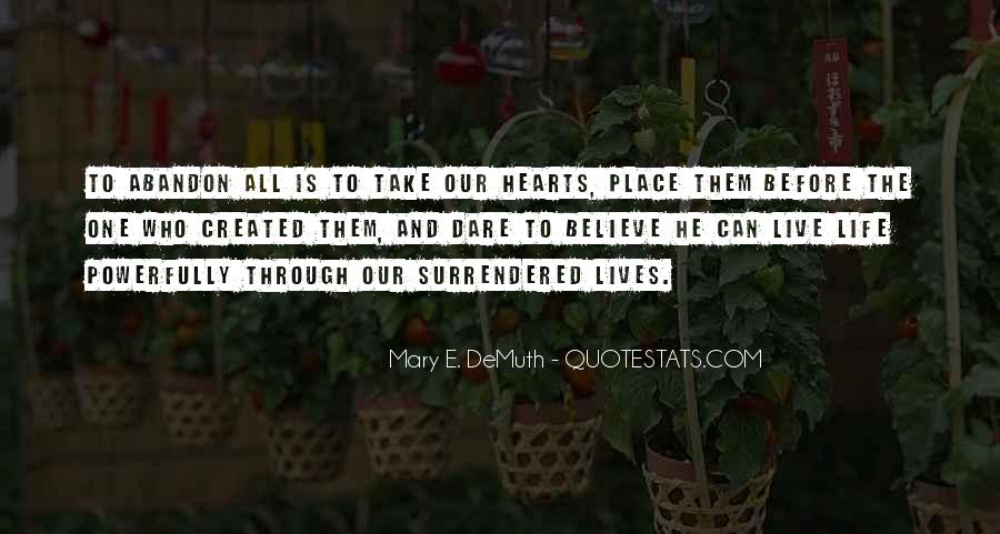 Quotes About Surrender #34655