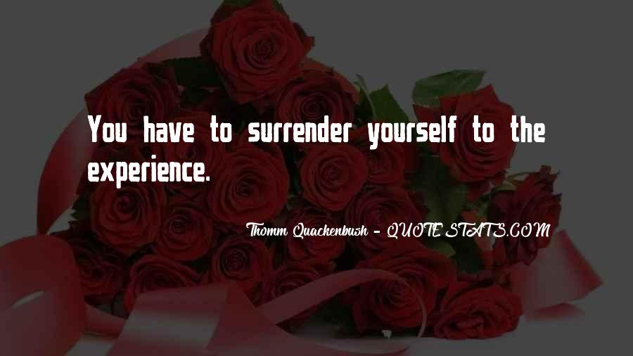 Quotes About Surrender #52543