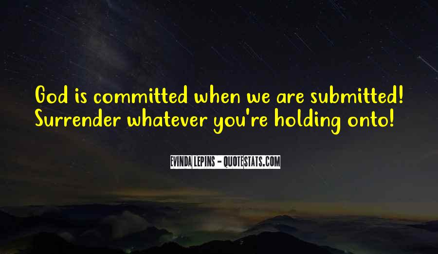 Quotes About Surrender #57428