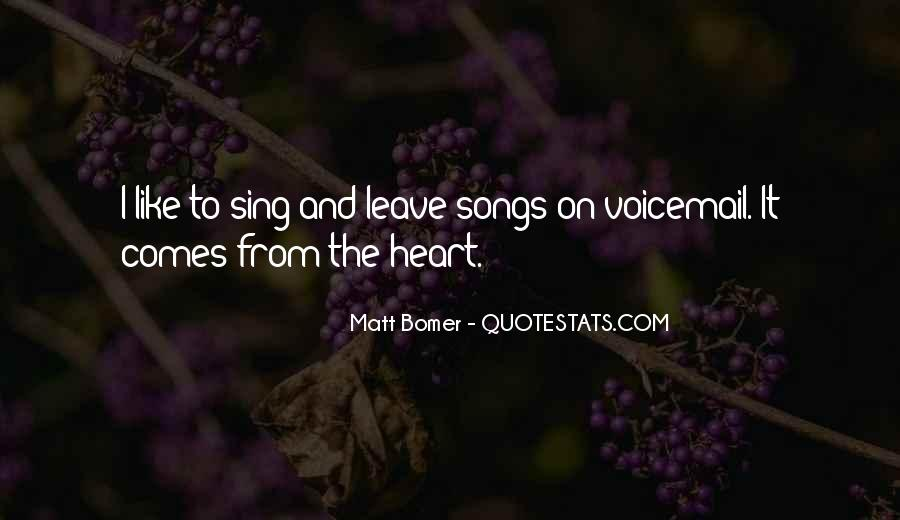 Quotes About Heart Songs #1020036
