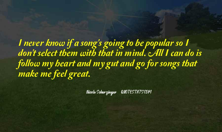 Quotes About Heart Songs #283109