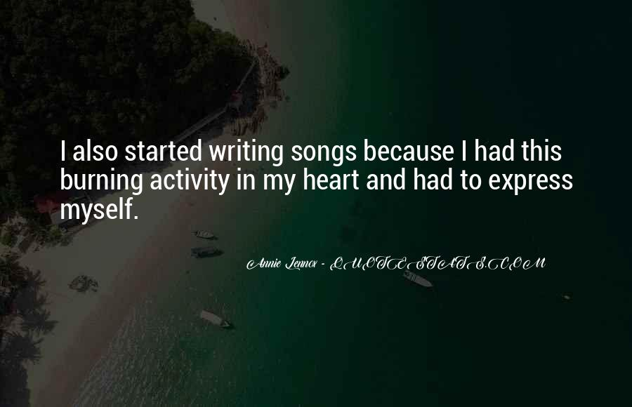 Quotes About Heart Songs #336756