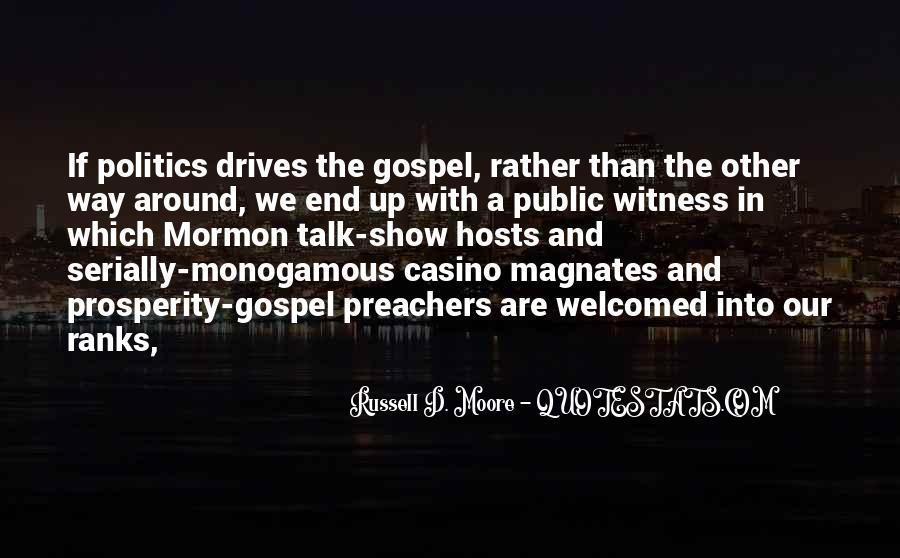Quotes About Prosperity Preachers #912950