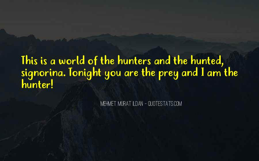 Quotes About The Hunter And Prey #888454