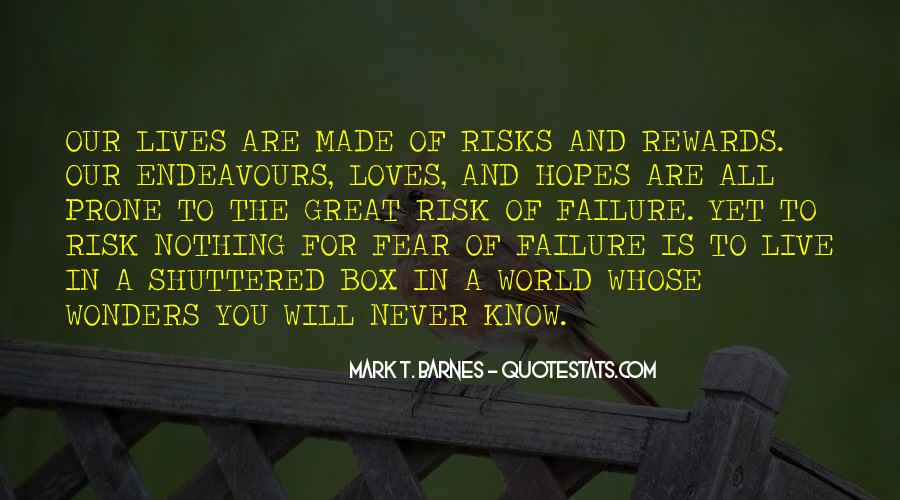 Quotes About Fear And Failure #221312