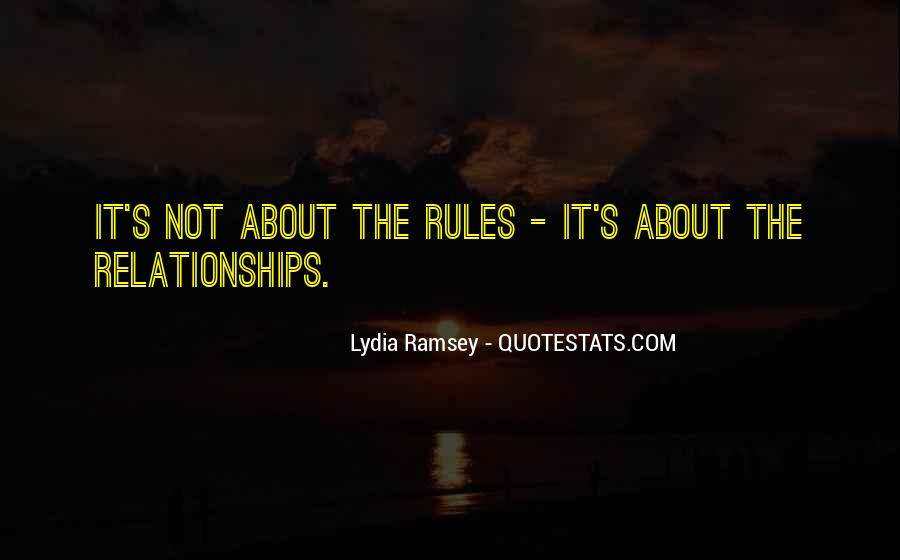 Quotes About Rules In Relationships #245755