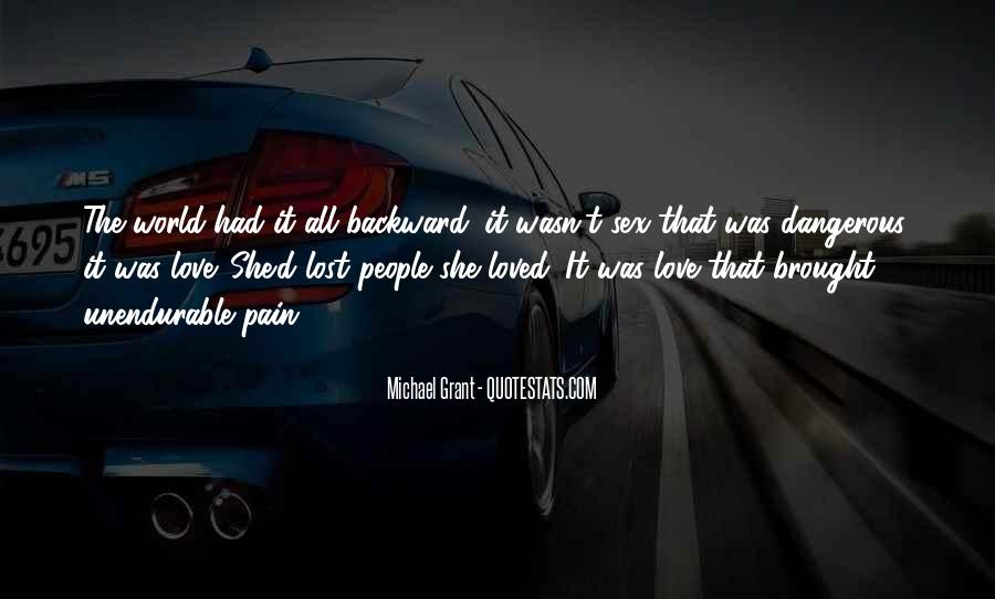 Quotes About Pain Of Love Lost #1155304