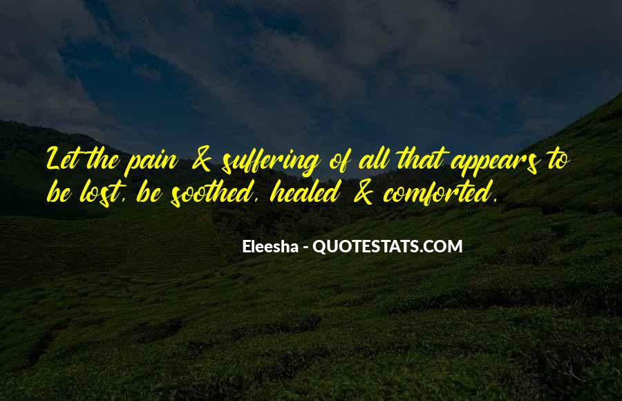 Quotes About Pain Of Love Lost #672459