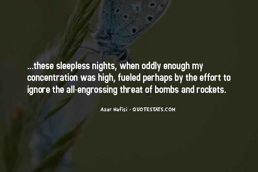 Quotes About Sleepless Nights #1185482
