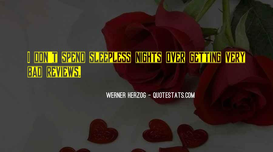 Quotes About Sleepless Nights #1288949
