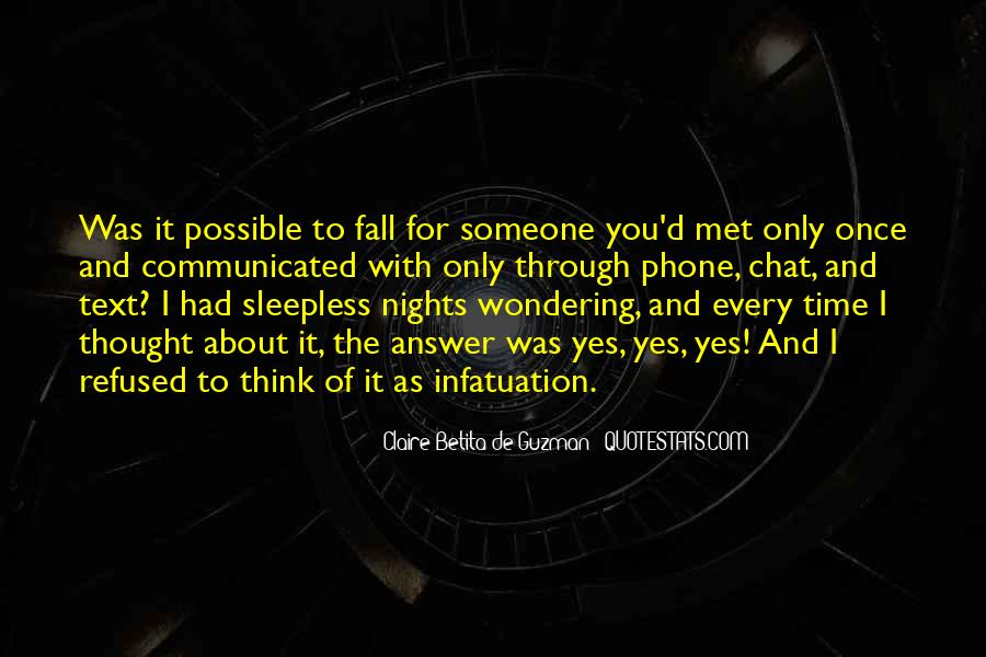 Quotes About Sleepless Nights #1366743