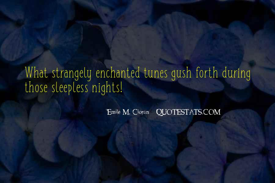 Quotes About Sleepless Nights #1672315