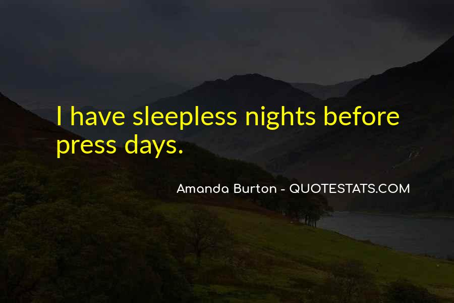 Quotes About Sleepless Nights #38843