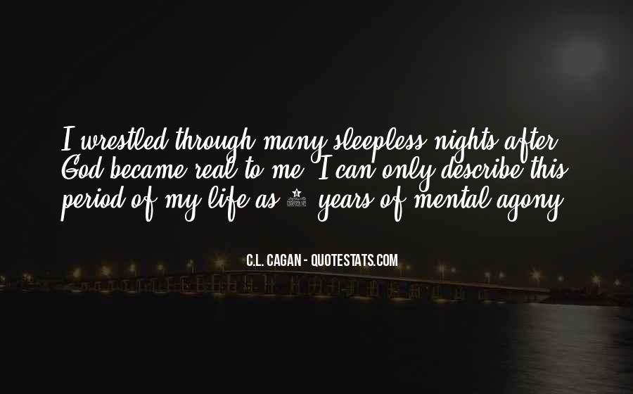 Quotes About Sleepless Nights #569680