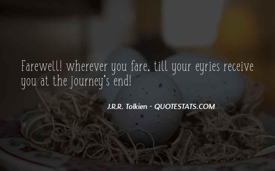 Quotes About Journey Tolkien #576991