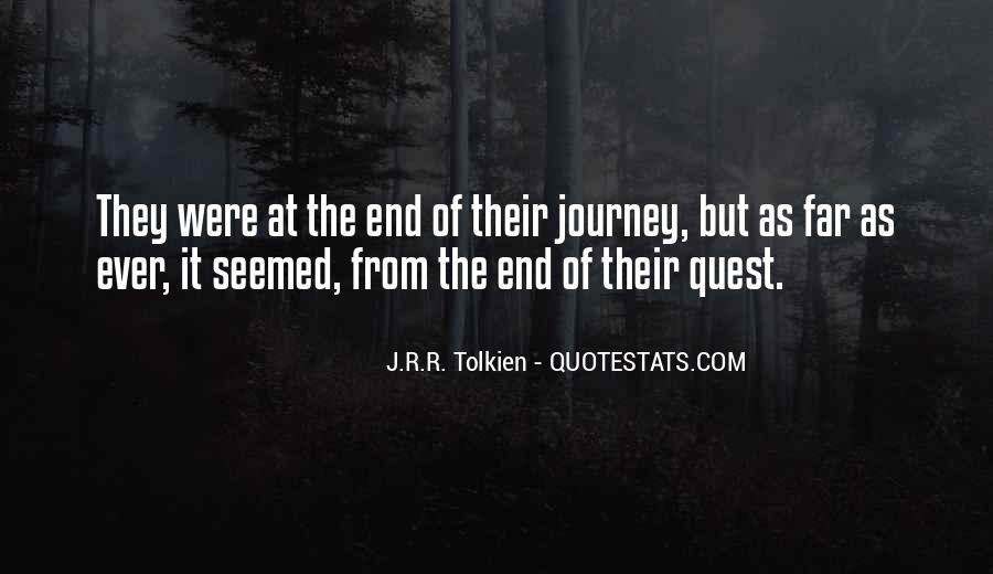 Quotes About Journey Tolkien #917017