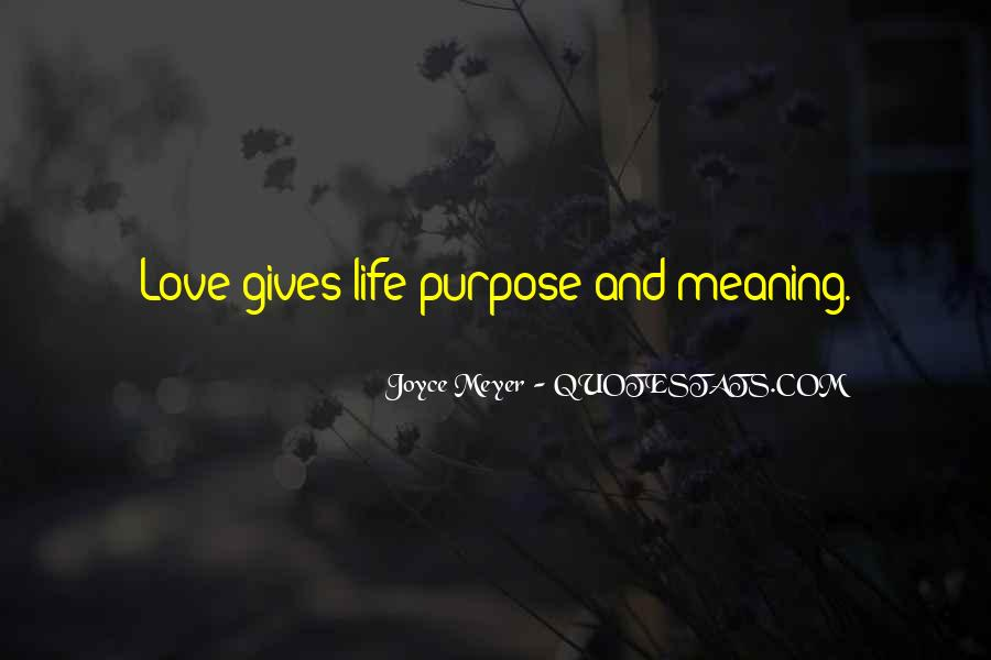 Quotes About Meaning And Purpose Of Life #329397