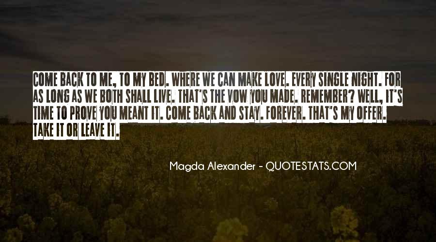 Quotes About Bed Love #340212