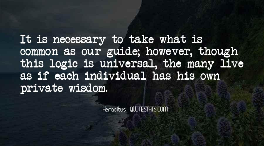 Quotes About Logic And Wisdom #1667372