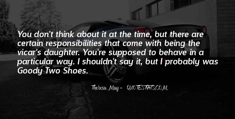 Quotes About Goody Two Shoes #1071396