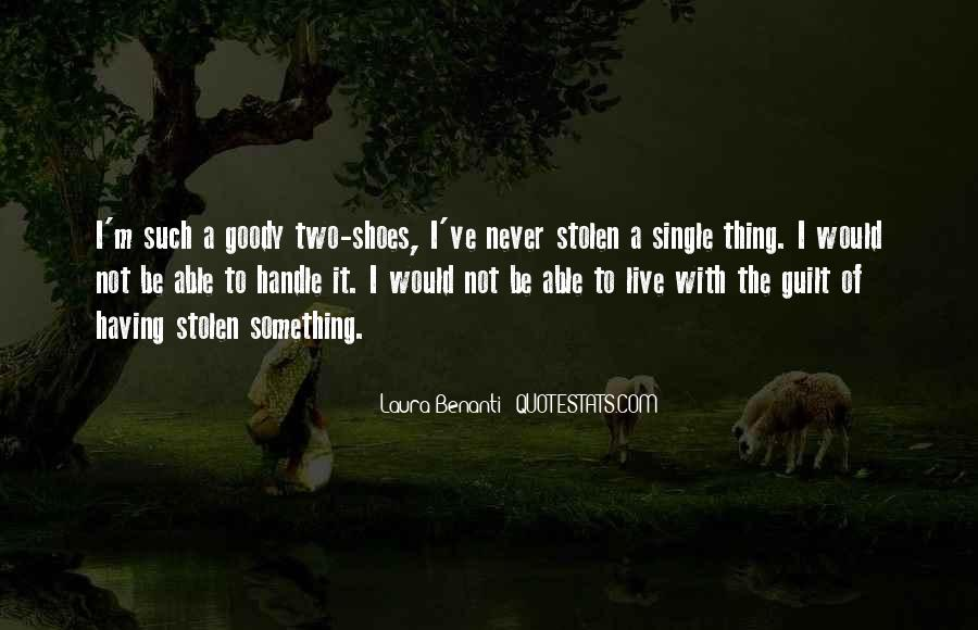 Quotes About Goody Two Shoes #1223668