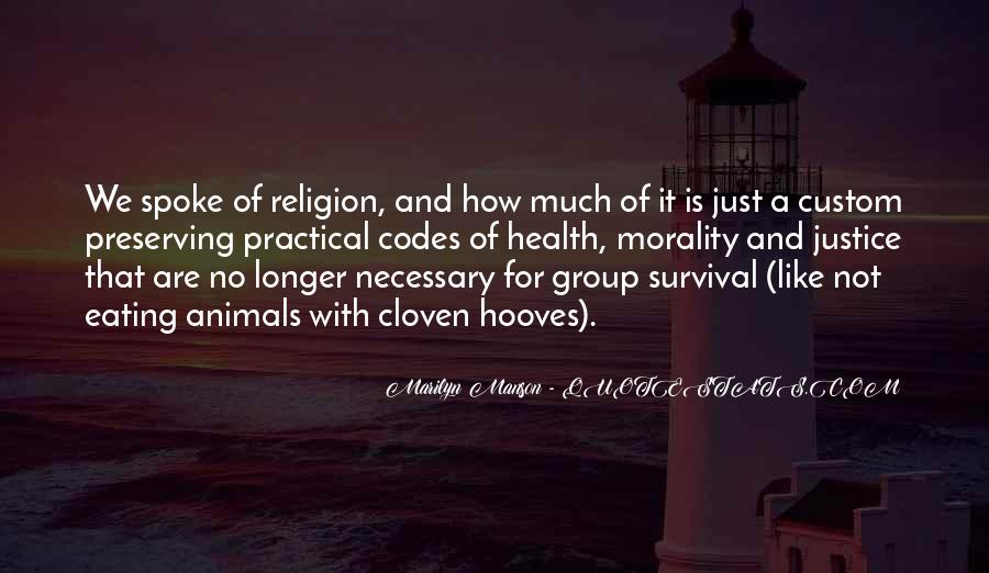 Quotes About Morality Without Religion #128365