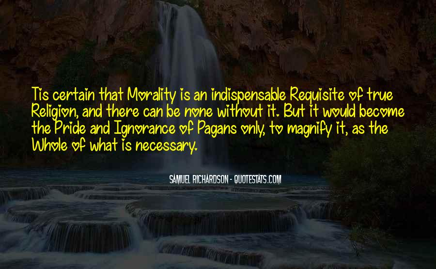 Quotes About Morality Without Religion #1442356