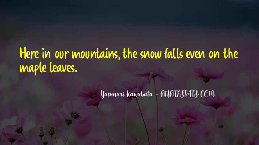 Quotes About The Mountains And Snow #1167490