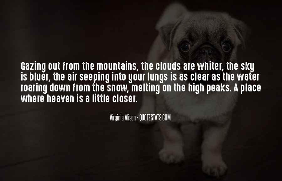 Quotes About The Mountains And Snow #684387