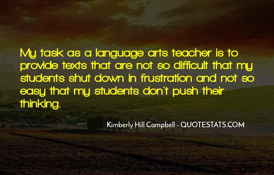 Quotes About Teaching Language Arts #108033