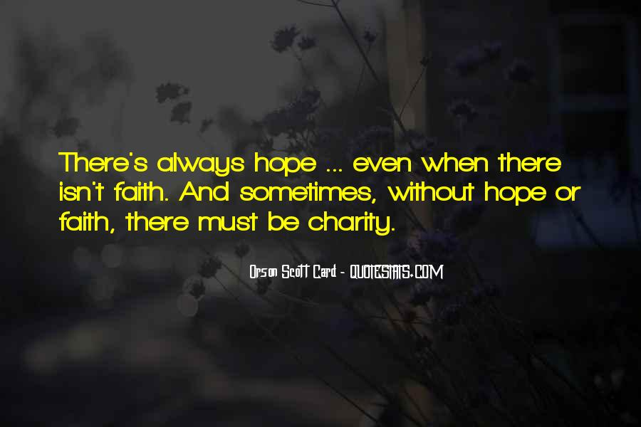 Quotes About Without Hope #208939