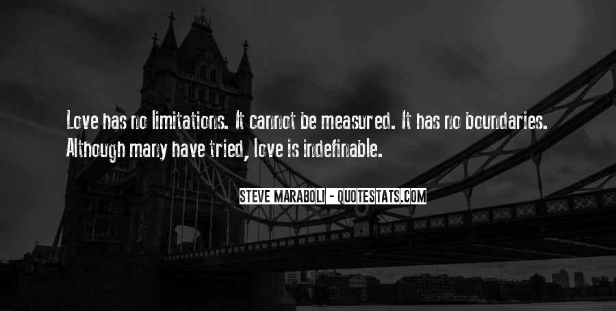 Quotes About Limitations In Love #1179515
