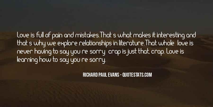 Quotes About Learning From Mistakes In Relationships #149385