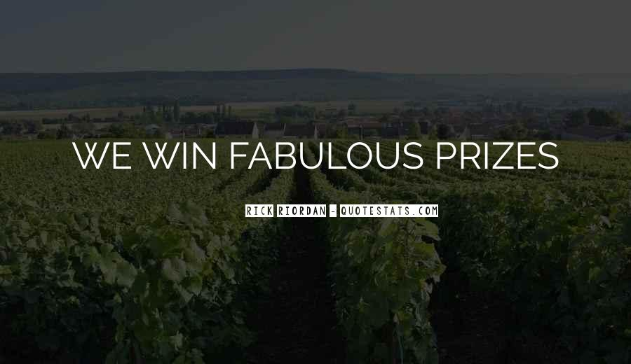 Quotes About Prizes #431408