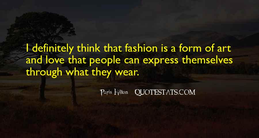 Quotes About Fashion And Art #256840