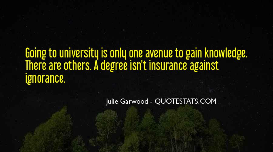 Quotes About University Degree #1290749